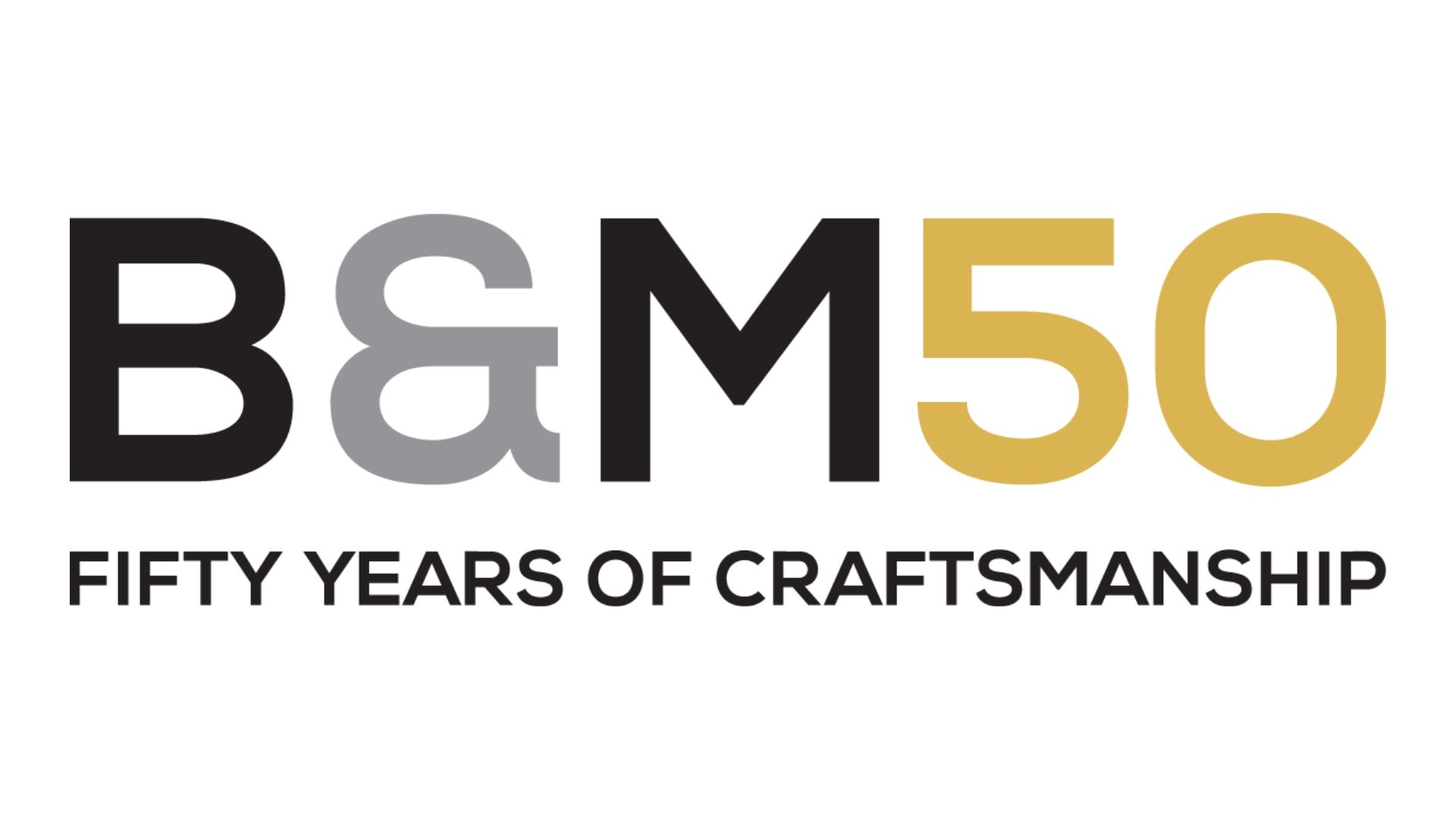 B&M Joiners New 50th Logo