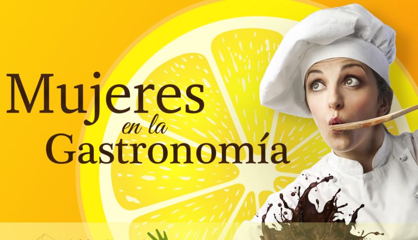 """Cartel de """"Mujeres en la gastronomía"""", iniciativa de Anadaluces Compartiendo."""