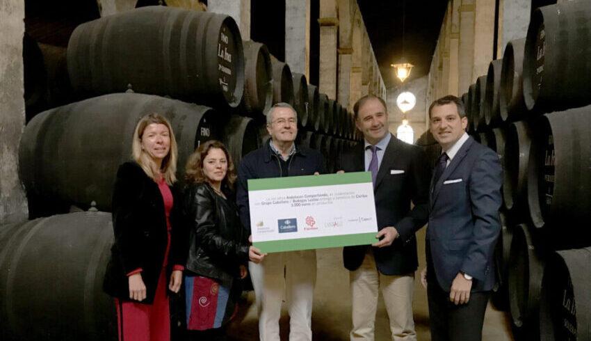 Celebración por donación de Bodegas Lustau