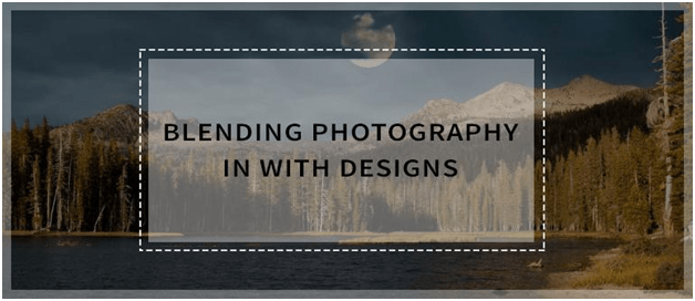 Blending photography in web design