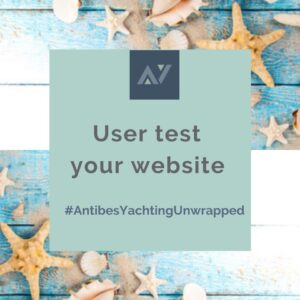 user test your website Antibes Yachting