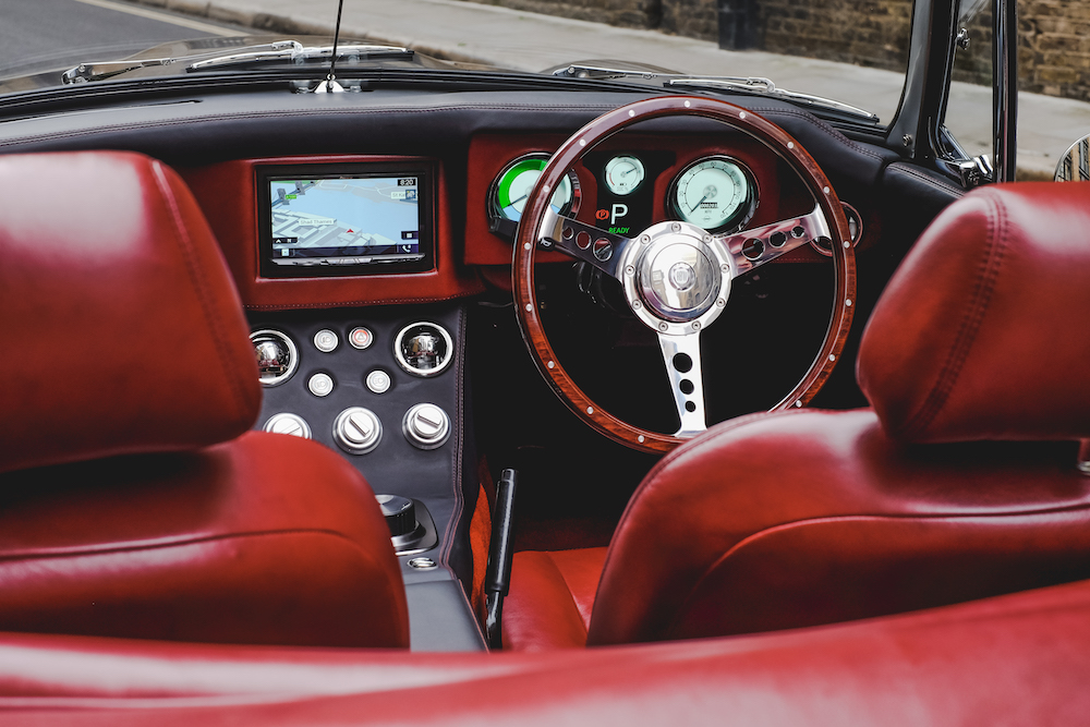 RBW Classic Electric Cars | pre-production Electric Classic Roadster| dashboard of the RBW Electric Classic Roadster