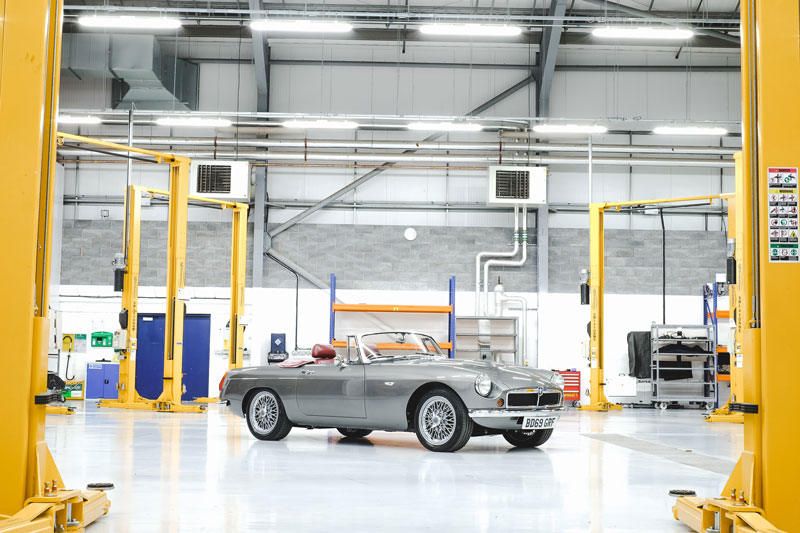 RBW EV Classic Cars Electrifies The MGB Roadster
