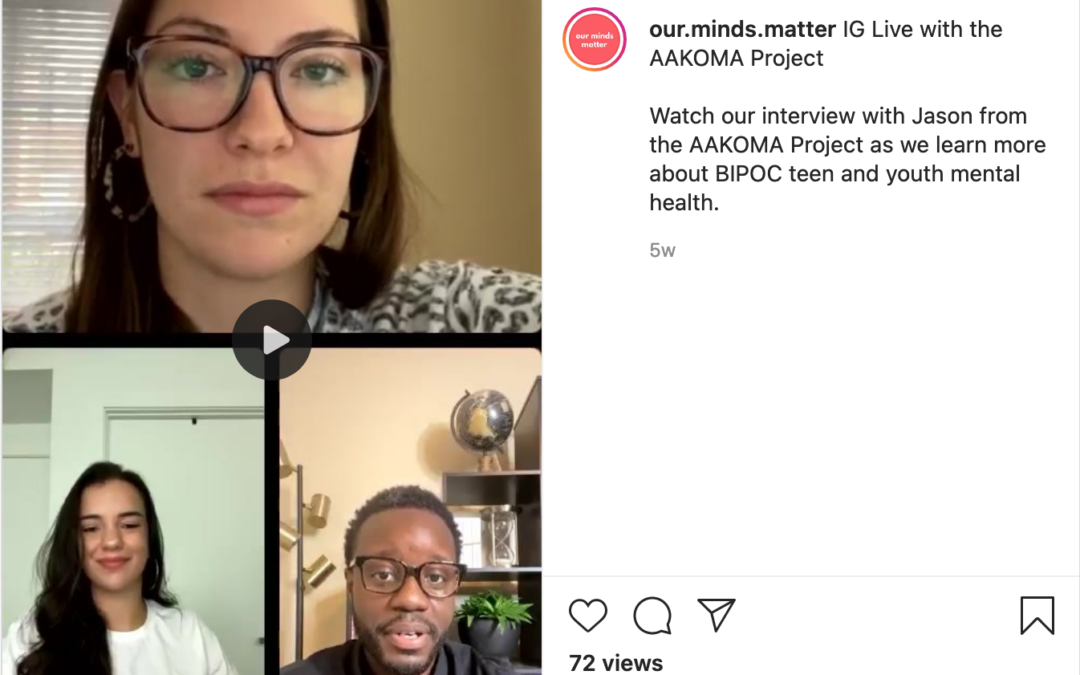 Instagram Live with Our Minds Matter