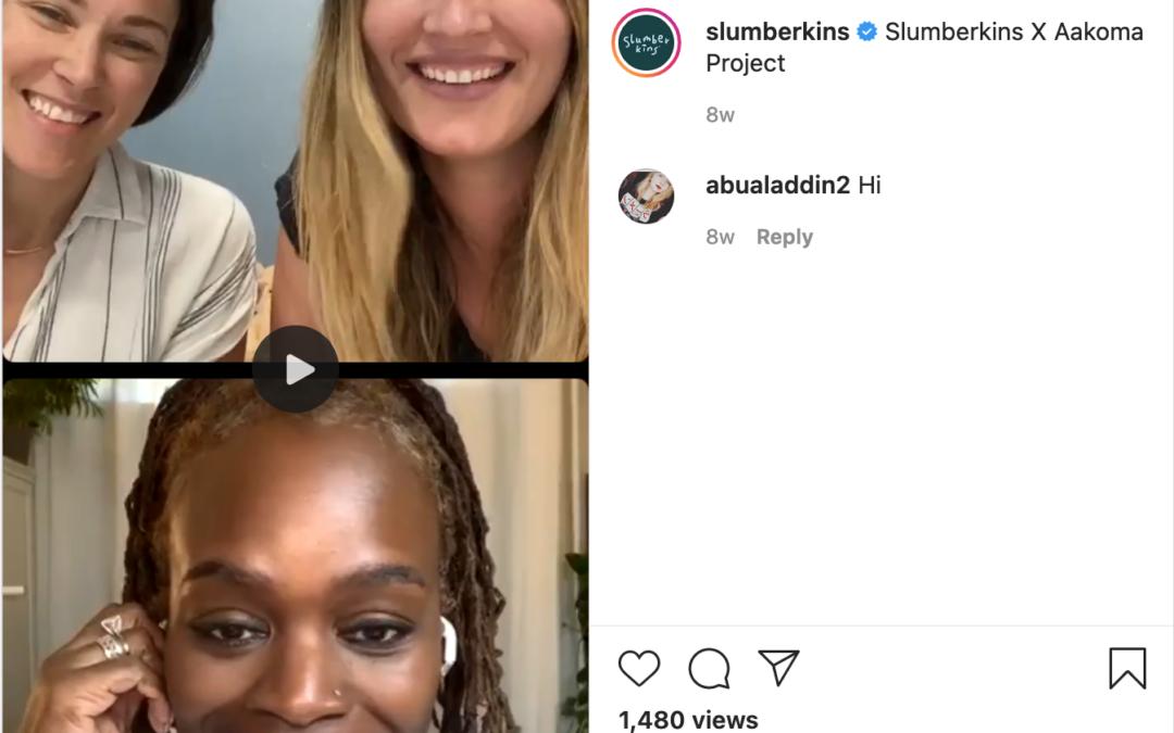 Instagram with @Slumberkins
