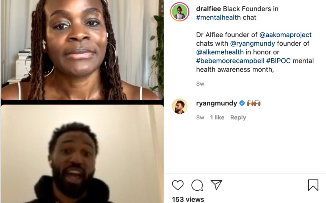 Instagram: Black Founders in Mental Health Chat
