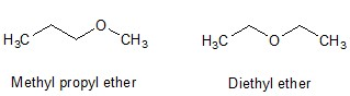 Ether with different alkyl groups