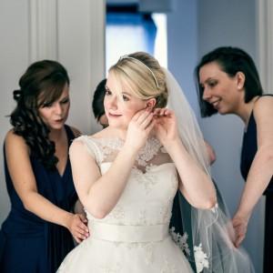Bride preparations in Manchester