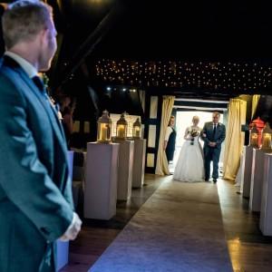Rivington Hall Barn wedding ceremony