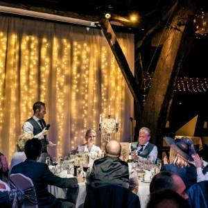 Circular top table at Rivington Hall Barn