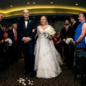 wedding ceremony in ball room at hotel zaza houston