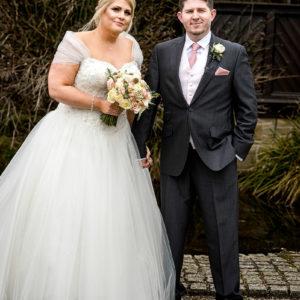 bride and groom portrait at morley hayes