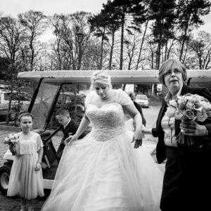 bride arrives at morley hayes