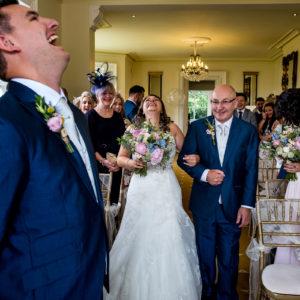 wedding ceremony at shottle hall