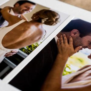 turks and caicos wedding album portrait spread
