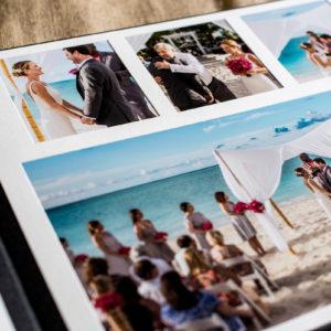 turks and caicos wedding album ceremony spread