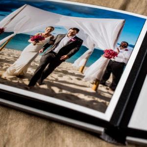 turks and caicos wedding album ceremony page