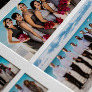 turks and caicos wedding album group photos page