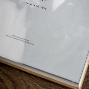 morley hayes wedding album title page