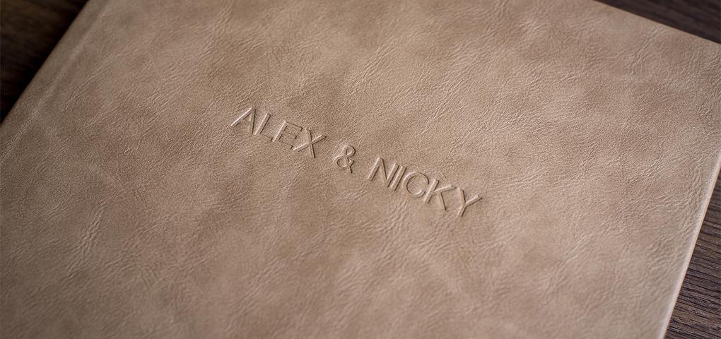 morley hayes wedding album leather