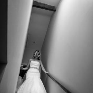 black and white bridal prep at packington moor