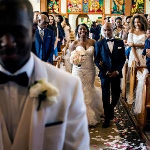 Church wedding ceremony in Nottingham
