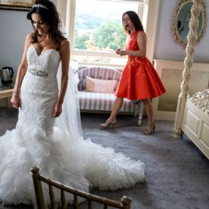 Bride getting ready ay Shottle Hall