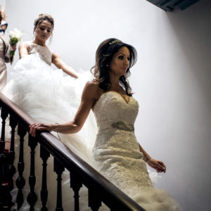Bride and Bridesmaid at Shottle Hall