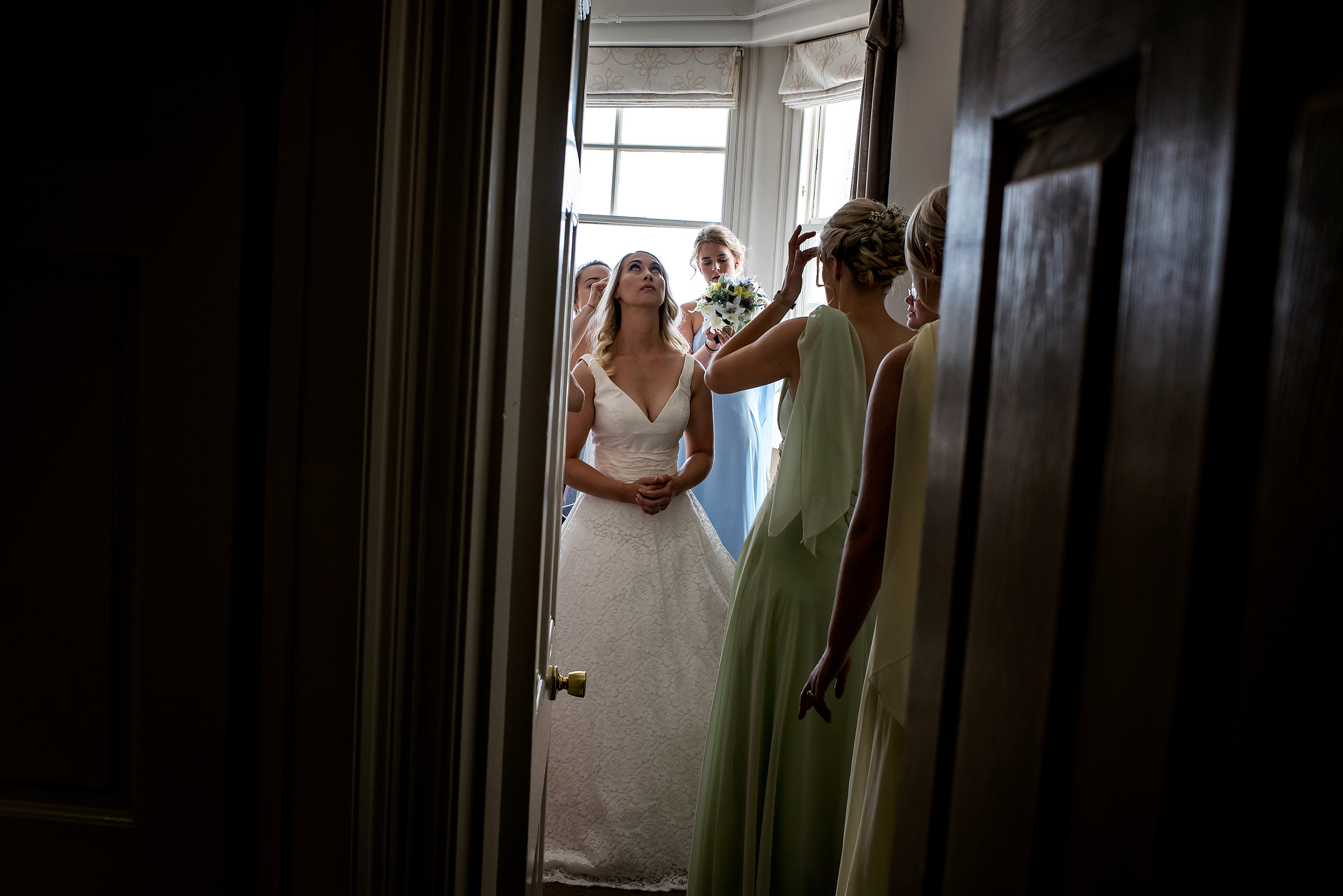Bride getting ready at Carbis Bay Hotel