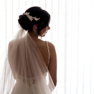 photographing the bride at weddings