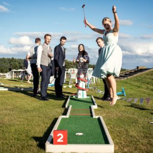 mini golf fire for weddings