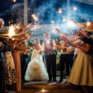osmaston park wedding photography sparklers