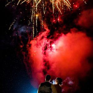 weston hall wedding fireworks