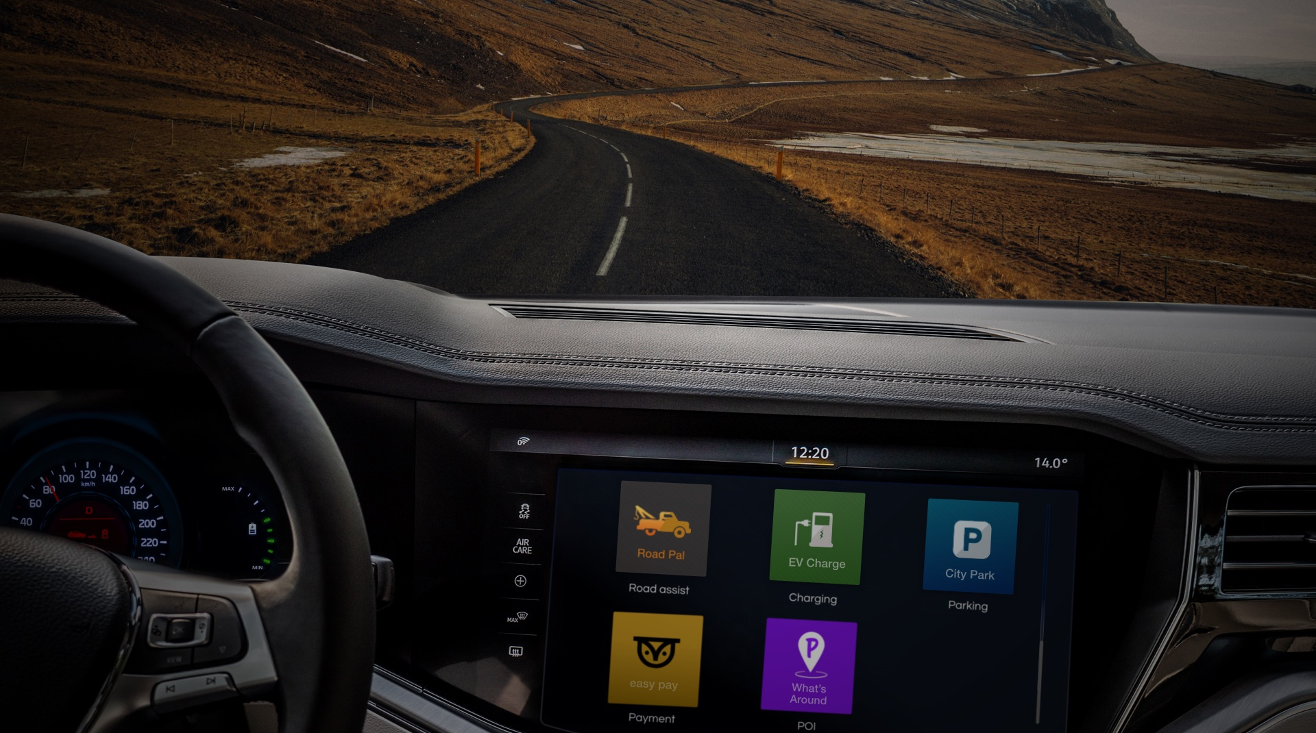 in vehicle connected car app