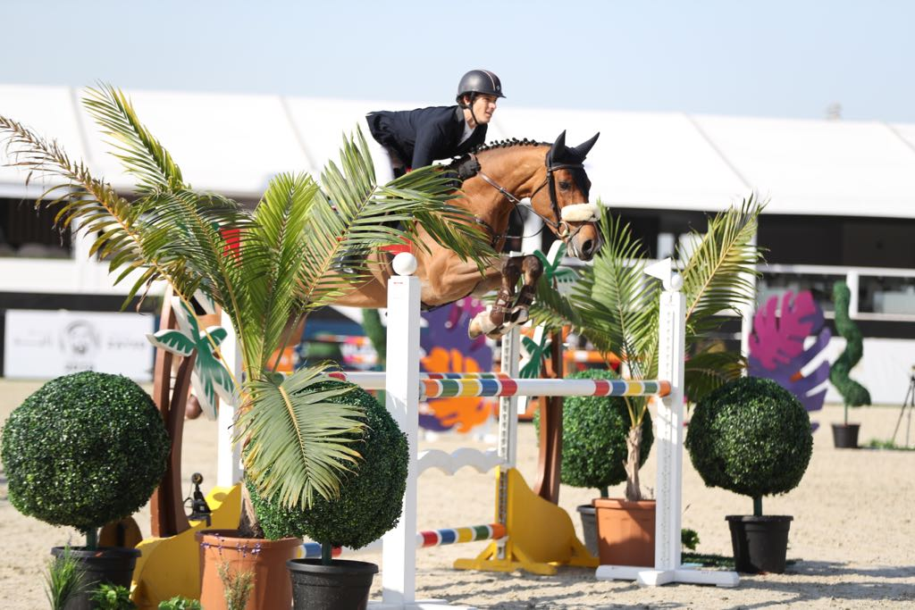 Hasina Bella MFS at Al Shira'aa Show Young Horse Class