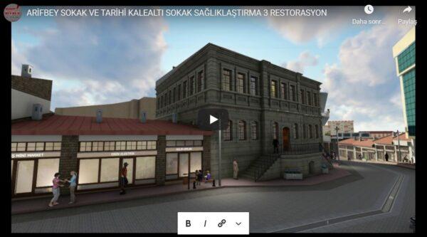 Sokak Sağlıklaştırma ve Restorasyon Animasyon Çalışması