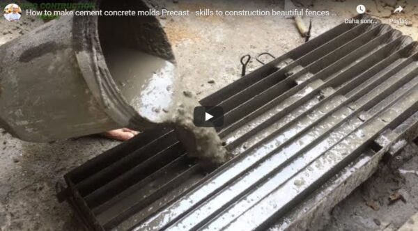 Çimento Beton Kalıpları Nasıl Yapılır