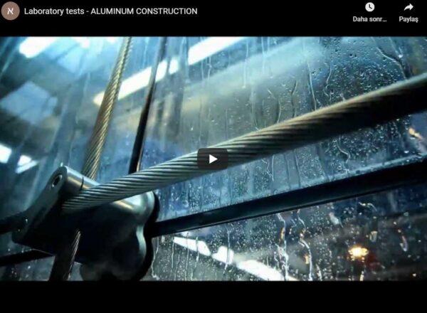 Alüminyum cephe ve doğrama testleri
