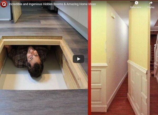 İnanılmaz ve Dahiyane Gizli Odalar Tasarımı