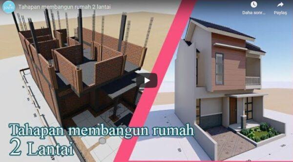 İki Katlı Evin İnşa Aşamaları (3D)