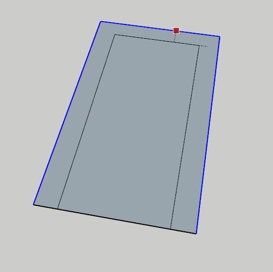 Sketchup Offset Komutu ile istenilen alanın paralel çalışma