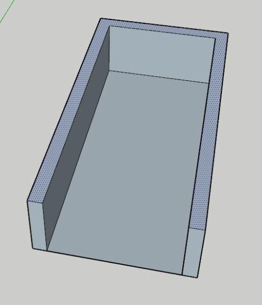 İstenilen alanın paralel duvar yükseltmesi