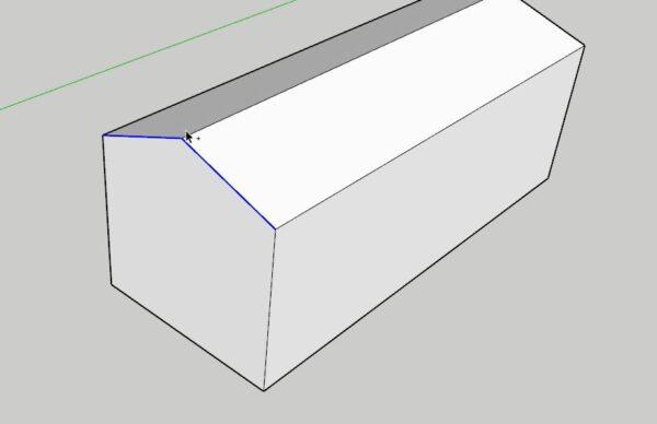 Sketchup çatı çizim çalışması