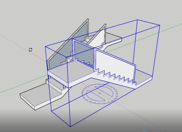 Sketchup merdiven katlarının ayarlanması