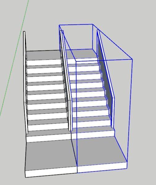 Sketchup merdiven katlarının çıkarılması