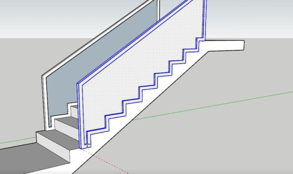 Sketchup merdiven korkuluk tasarım uygulamaları