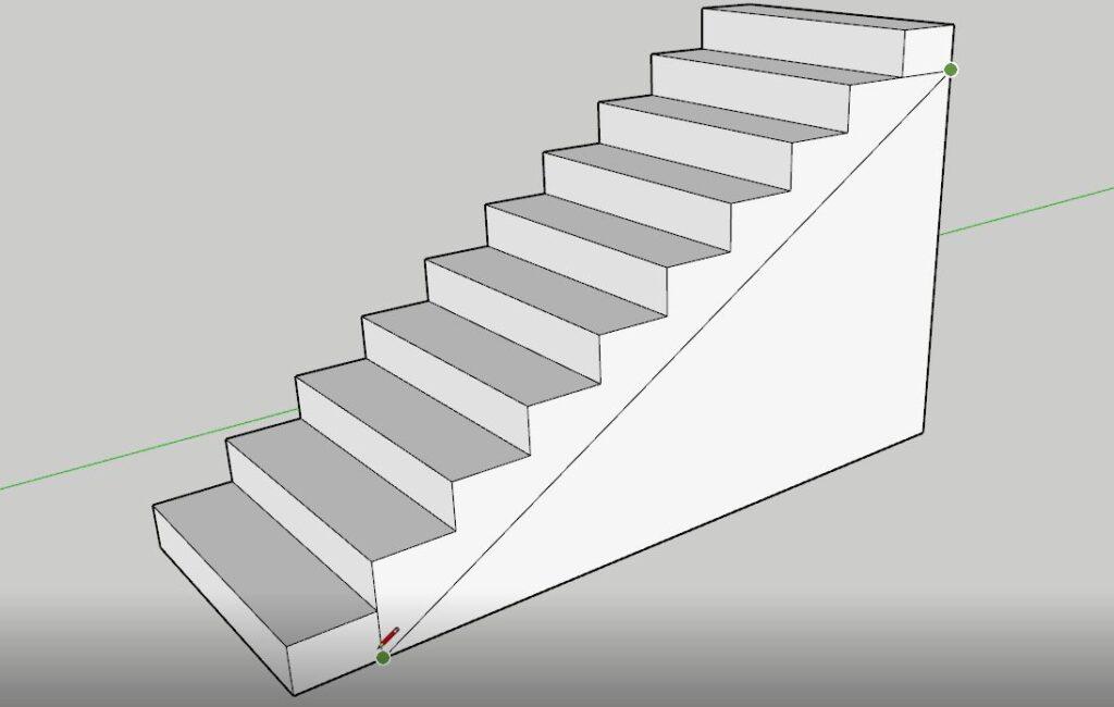 Sketchup merdiven kovası