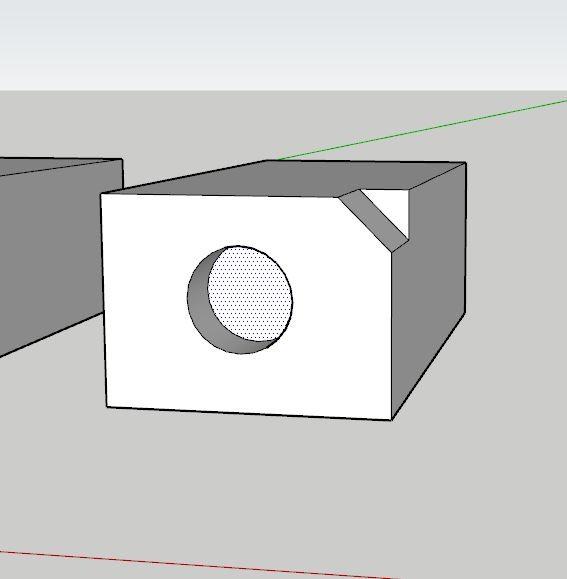 sketchup Push Pull komutu ile delik açma