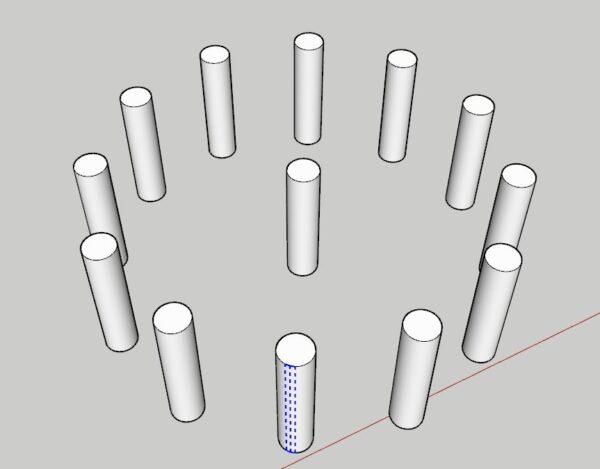 sketchup array komutu