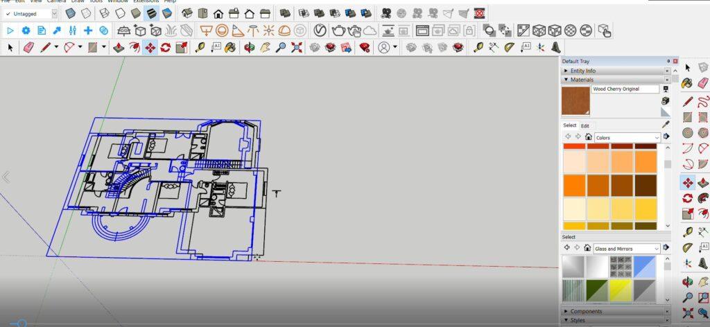 sketchup autocad katların birleşimi
